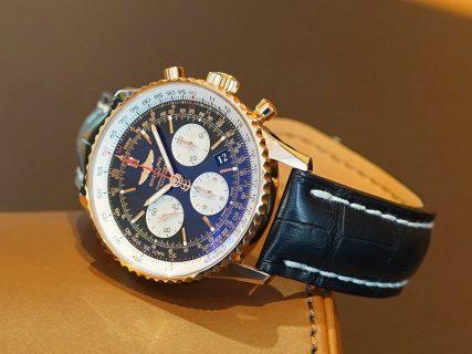 何時かは手に入れたいK18ゴールド素材の腕時計!「ナビタイマー1 B01 クロノグラフ 43」