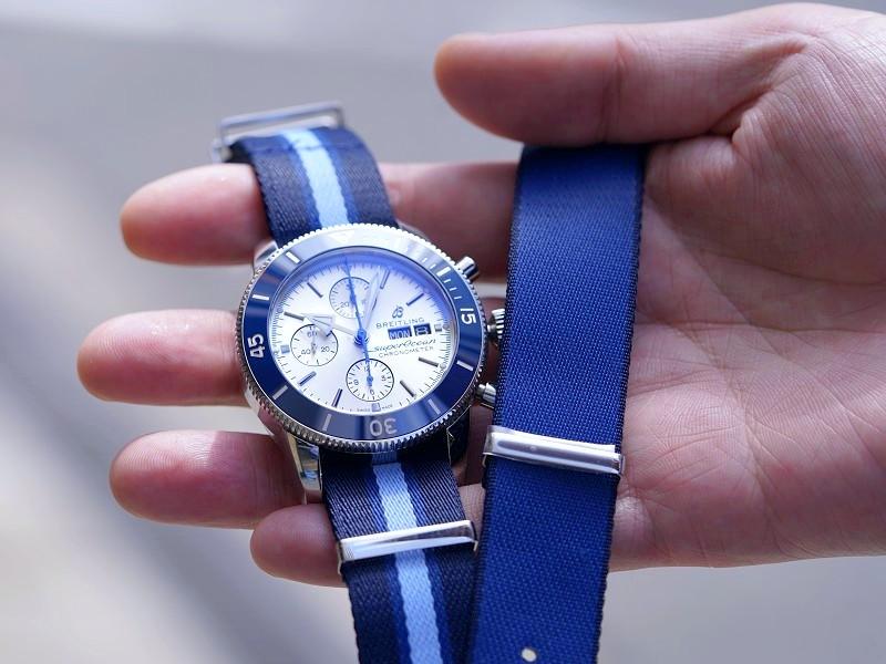 シルバーとブルーのカラーリングが爽やかなダイバーズクロノは世界限定モデル!!スーパーオーシャン ヘリテージ-SUPEROCEAN