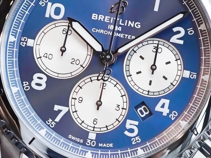 ブルー×シルバーのコントラストが効いた本格パイロットクロノ!アビエイター8-アビエイター 8