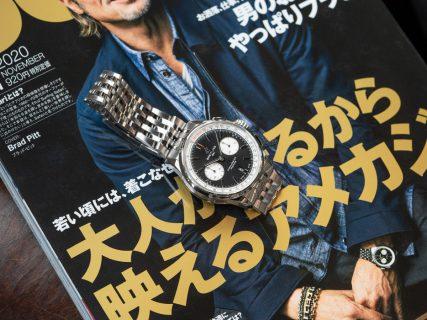 """""""SAFARI""""11月号にてブラッド・ピット氏が着用しているモデルはコレだ!"""
