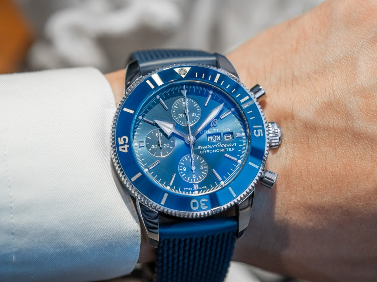海洋のスタイルを体現したエレガントデザインのダイバーズウォッチ-スーパーオーシャン ヘリテージ